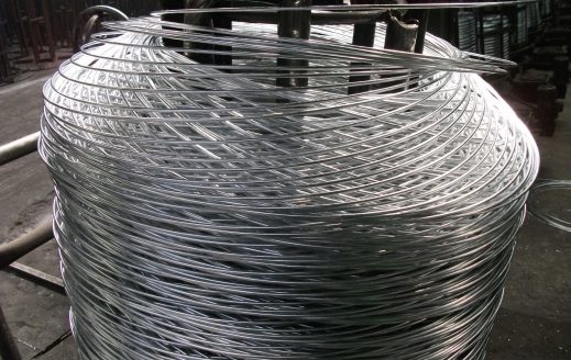 Zinc-plated wire